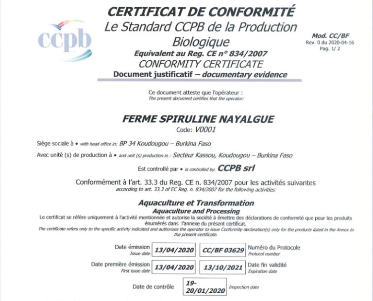 photo de certificat
